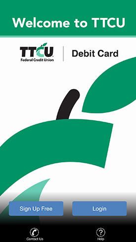 TTCU's new debit card app