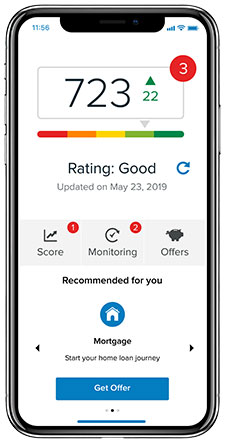 Credit score on an iPhone X
